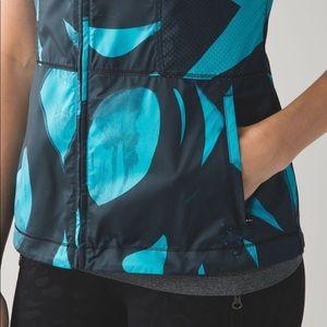 "lululemon athletica Jackets & Coats - Lululemon   Spin Stroke Peacock ""Pack-It Vest"" 4"